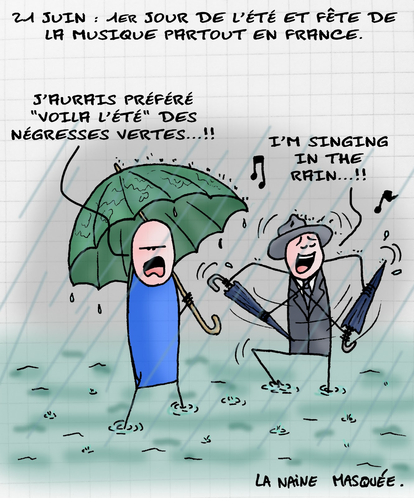 image drole sous la pluie
