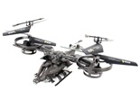 2.4G 4-channel ABS RC Avatar Fighter Helicopter Gray