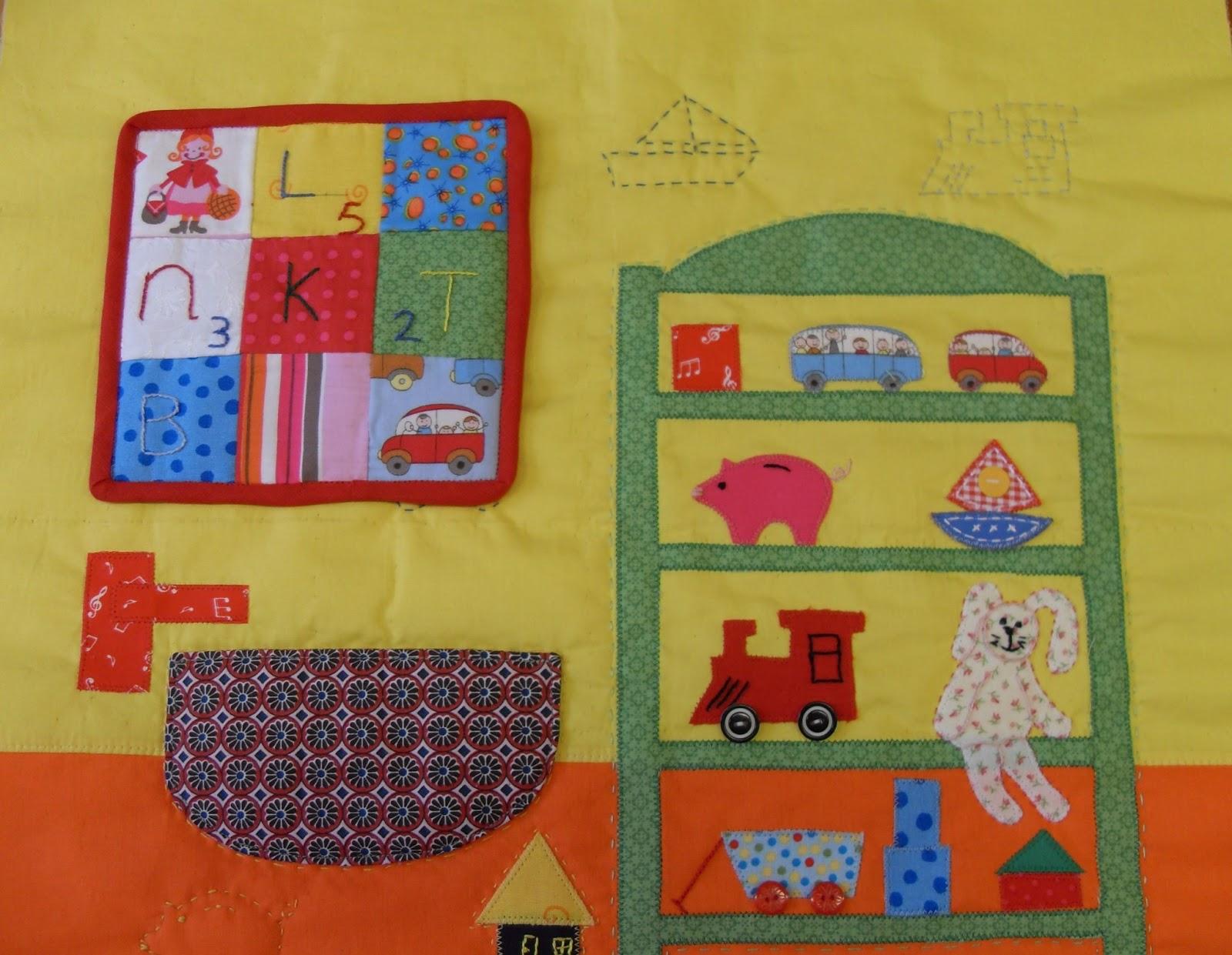 De sampler quilt voor de kinderkamer - Quilts gele ...
