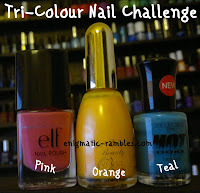 tri-colour-nail-challenge-elf-gum-pink-la-femme-ultra-gold-collection-2000-electric-dreams