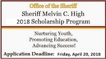 Watch out for 2019 Sheriff Melvin C. High Scholarship Application Next Spring
