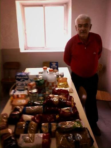 alimentos en la sede de San José Artesano