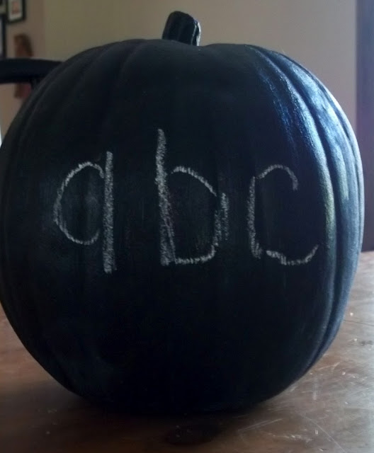 how to make a magnetic chalkboard pumpkin for fun fall homeschool lesson