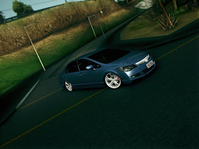 GTA SA - Honda Civic + Rodas Do Audi R8 By TudoGtaSan