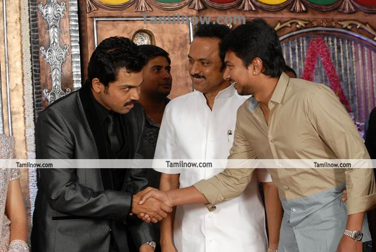 Actor gallery Actor Karthi Wedding Reception Stills Wedding Photos