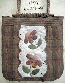 Quilt bag with flowers