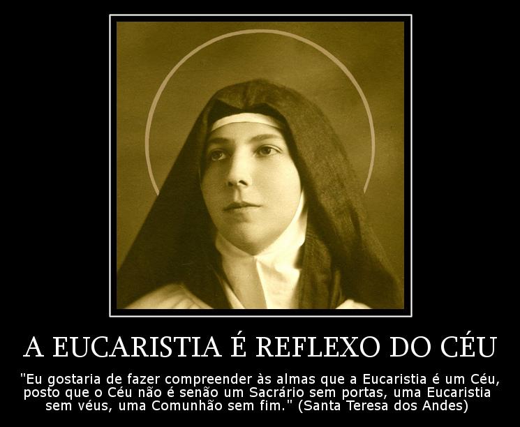 A Eucaristia é Reflexo Do Céu Frases Dos Santos