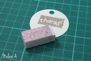 thank you card and stamp // photo by Melani A - magsbeadscreation.com