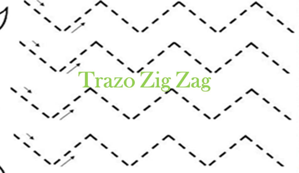 Descargar ejemplos de fichas para trabajar el trazo en zig zag