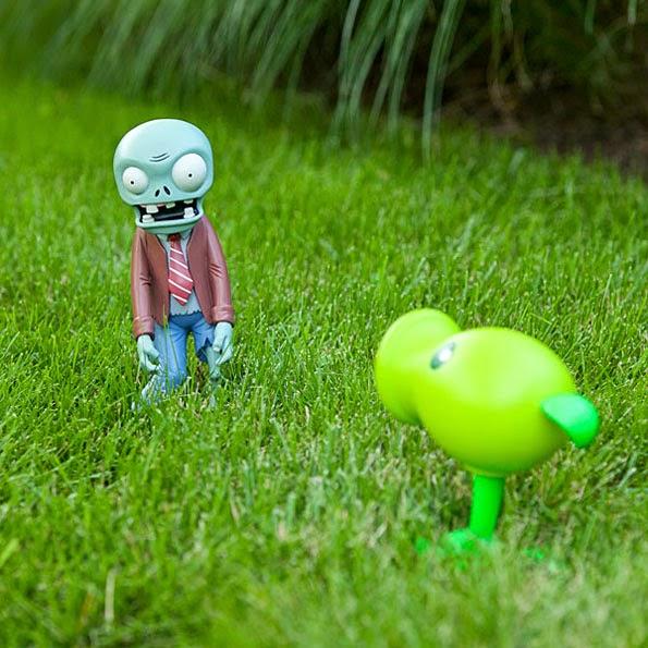 figuras plants vs zombie para jardn