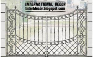 Modern iron gates iron portals french designs 2013 for International decor gates