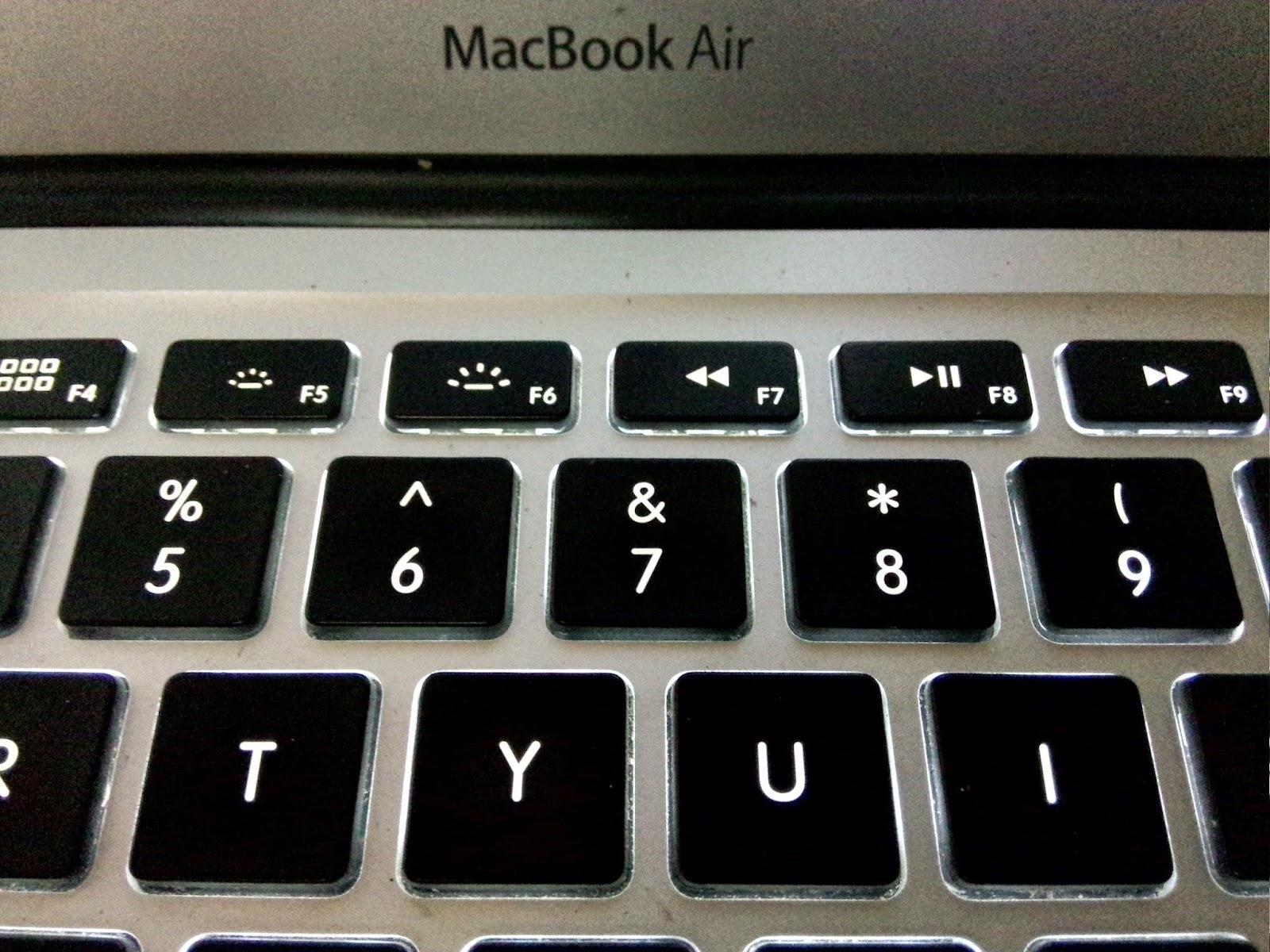 Macbook键盘的顶端功能键设计