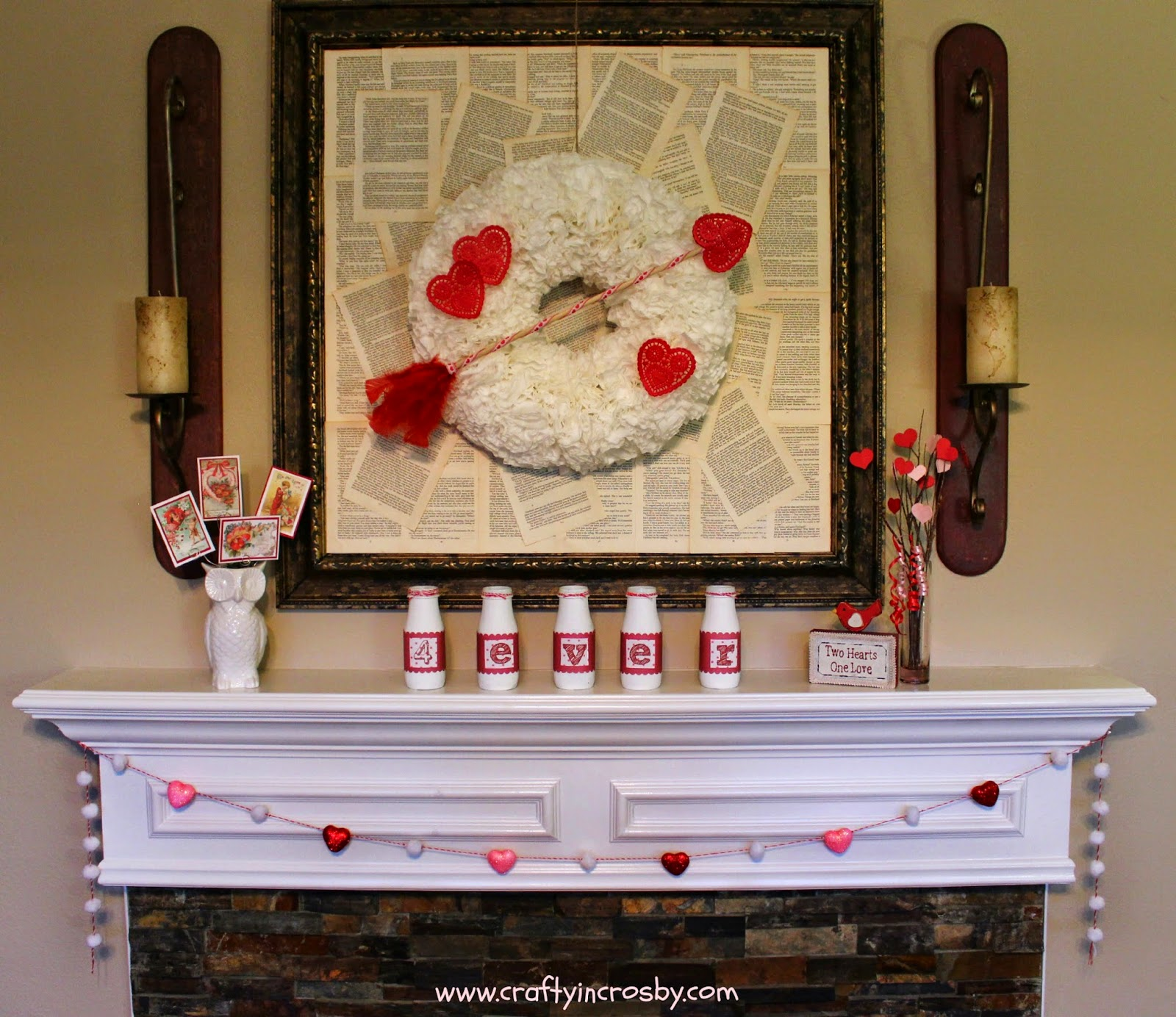 Valentine's Day decor, Valentines, heart, arrow, easy diy decor, interchangeable wreath