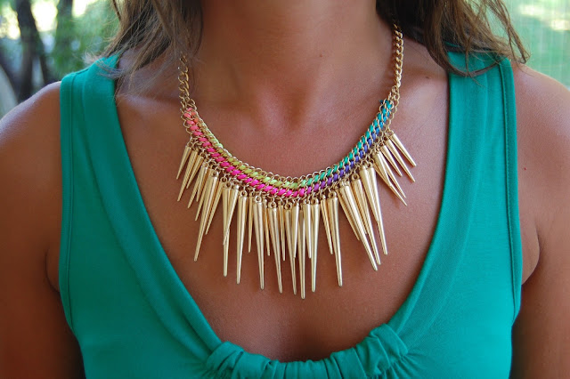 Primark Neon Spike Necklace