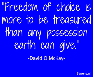 Freedom of choice is more to be treasured than any possession earth can give. - Quote