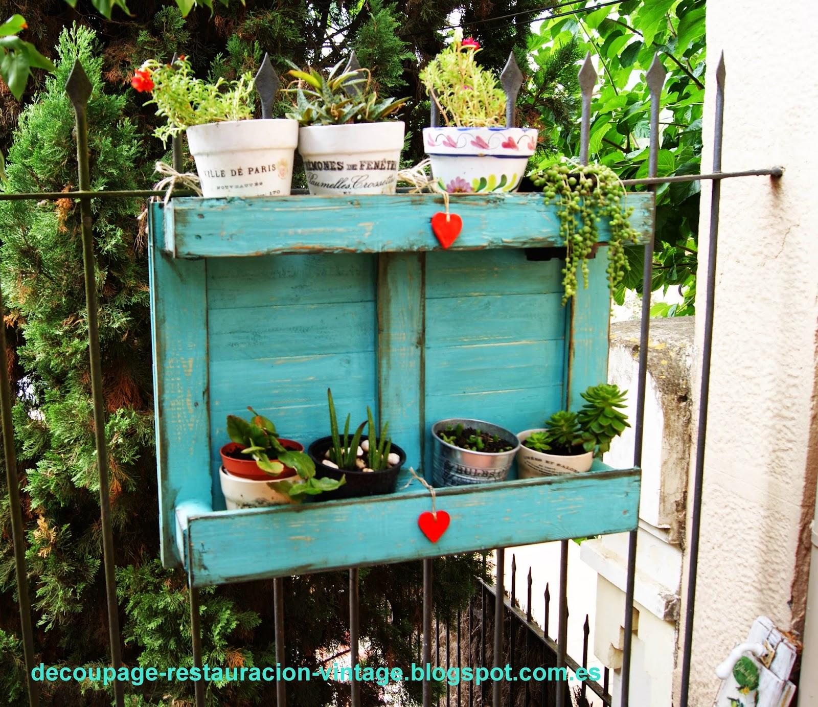 Decoupage transfer y otras t cnicas restauraci n de for Como decorar el patio de la casa
