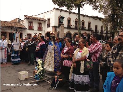 Virgen de la Salud de Pátzcuaro en la Plaza Vasco de Quiroga