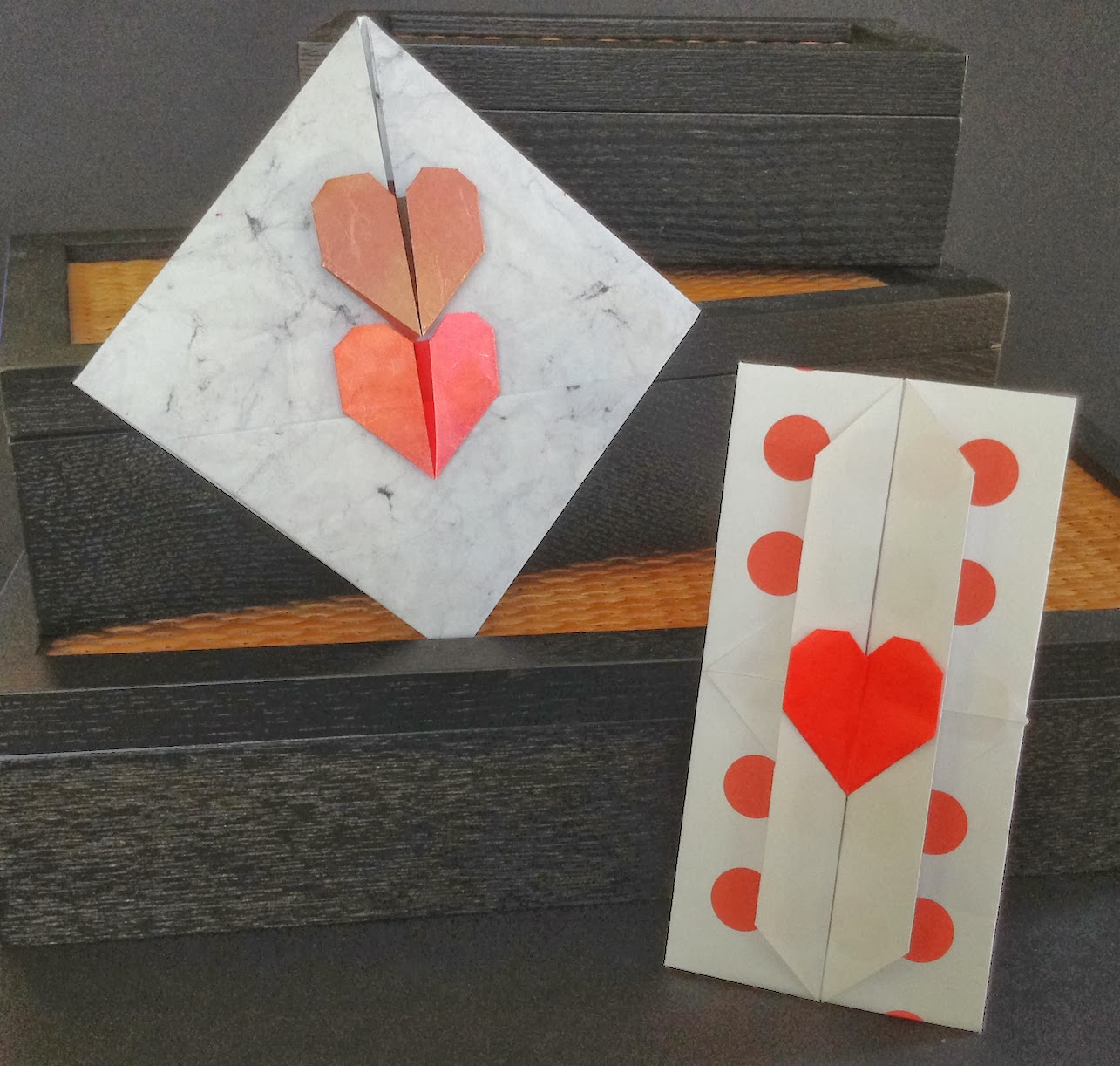 Letter Envelopes with Heart Locks