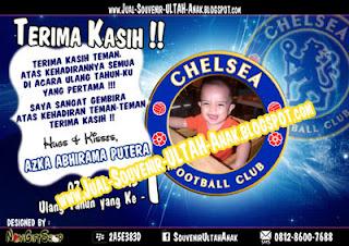 Thanks Card Chelsea Sample Tema Design Thanks Card (Kartu Ucapan Terima Kasih)