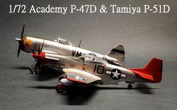 1/72 P-47D & P-51D