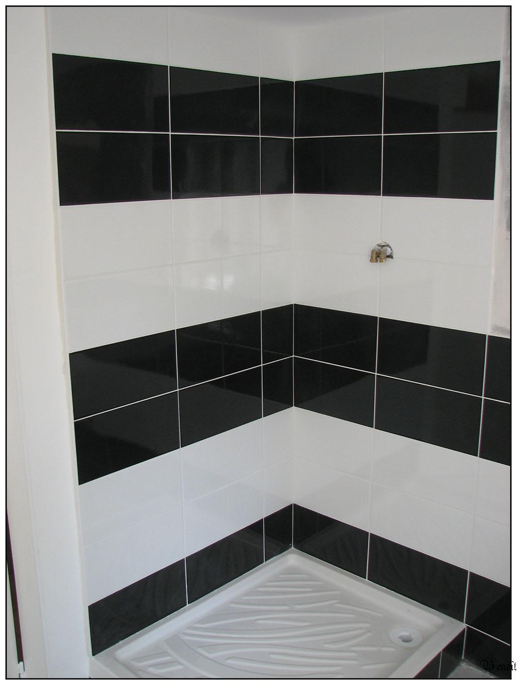 Salle De Bain Noir Blanc