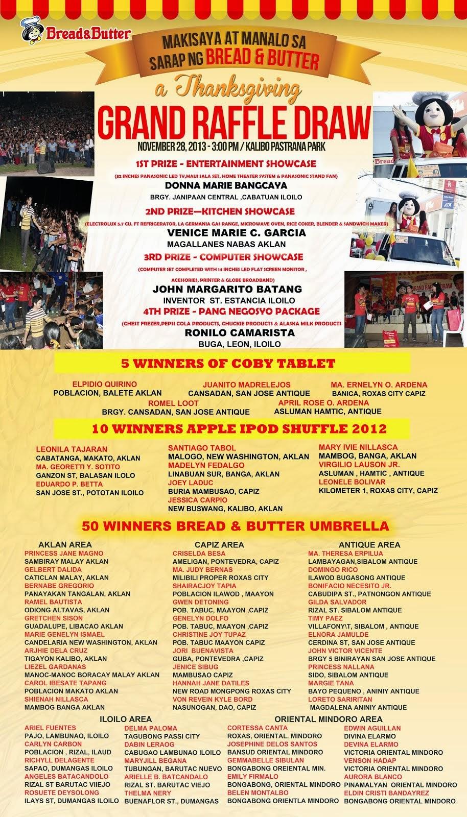 Makisaya at Manalo sa Sarap ng Bread & Butter Promo!