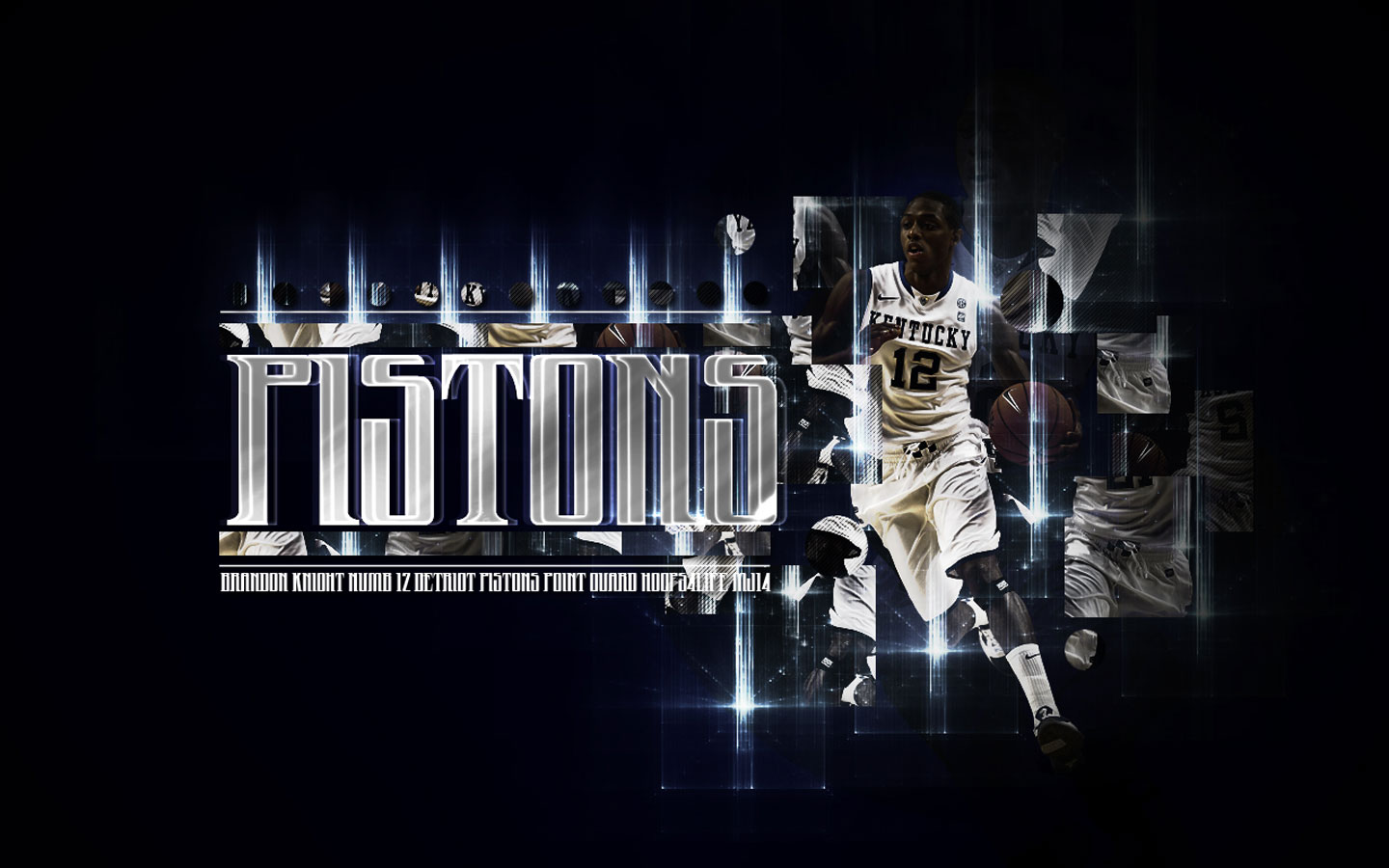 Detroit Pistons Brandon Knight Kentucky Widescreen Wallpaper Big Fan Of NBA
