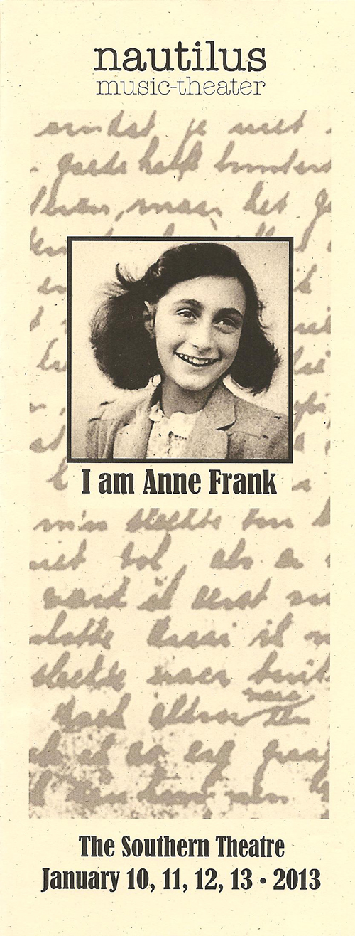 Cherry and spoon i am anne frank by nautilus music for Anne frank musical