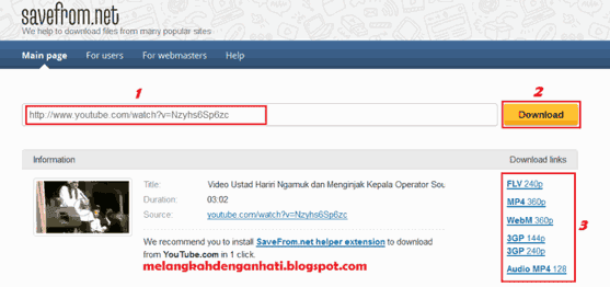 youtube video downloader, cara download youtube, cara download video dari youtube