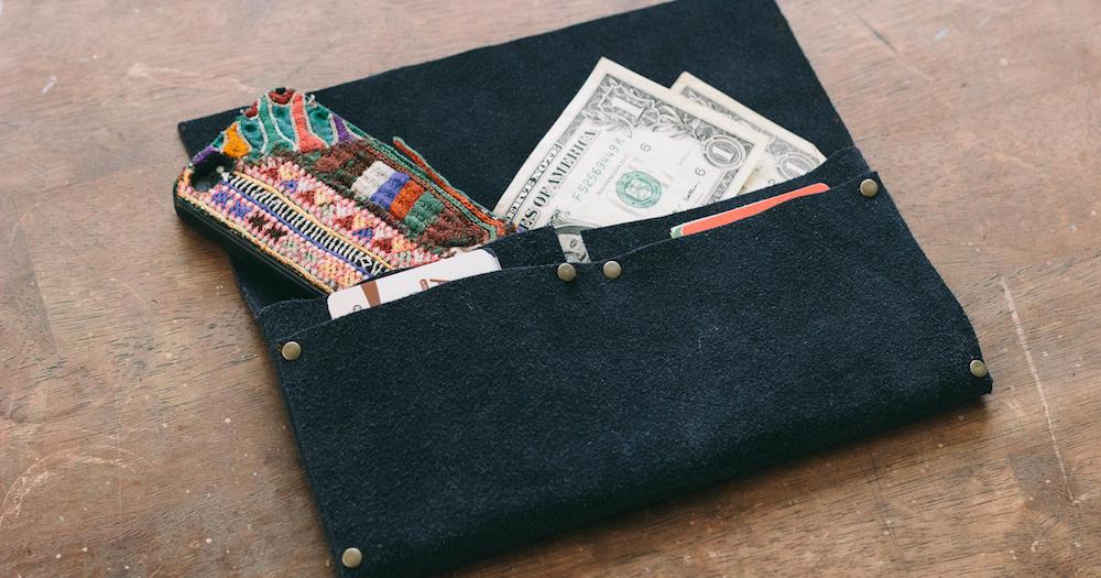 No Sew Clutch Wallet | DIY