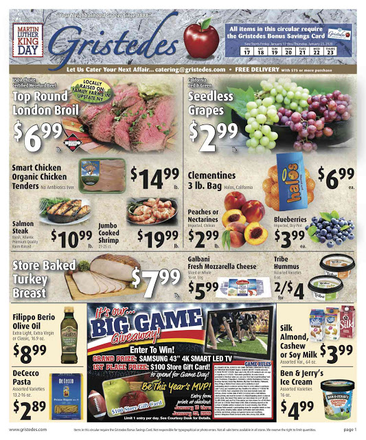 CHECK OUT ROOSEVELT ISLAND GRISTEDES Products, Sales & Specials For January 17 - January 23