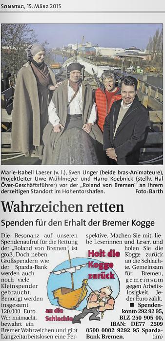 Weser Report vom 15.03.2015