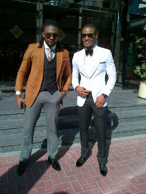 Uti Nwachukwu & Alex Ekubo at 2face's wedding