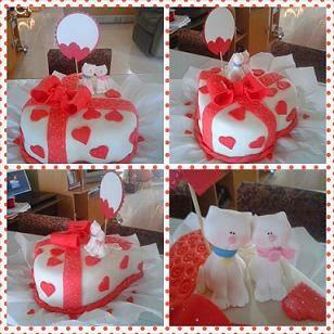 Torta para enamorados