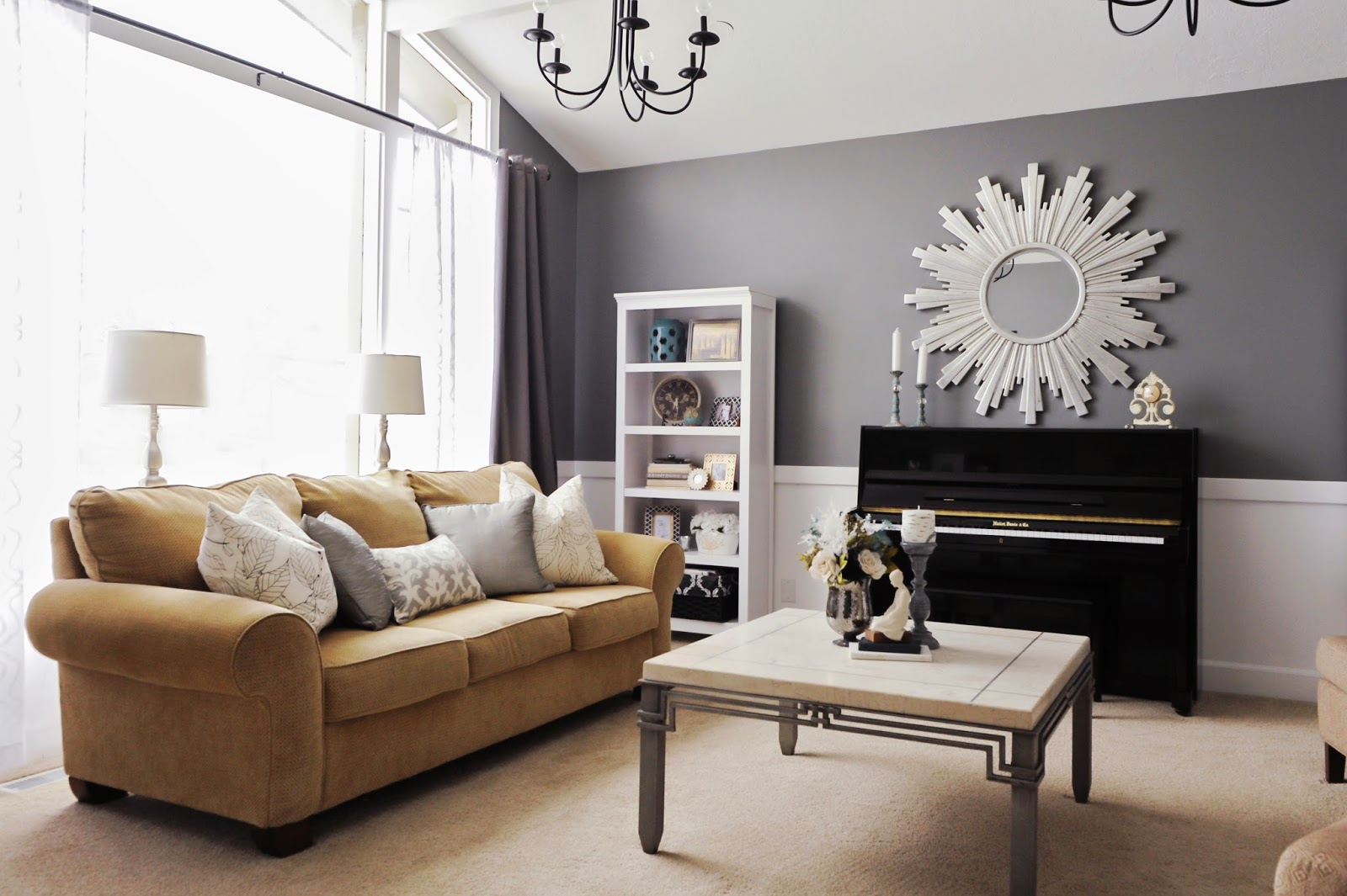 Studio 7 Interior Design: Client Reveal:Transitional Chic Formal Living Room