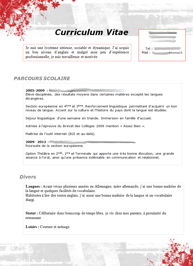resume format  lettre accus u00e9 r u00e9ception cv