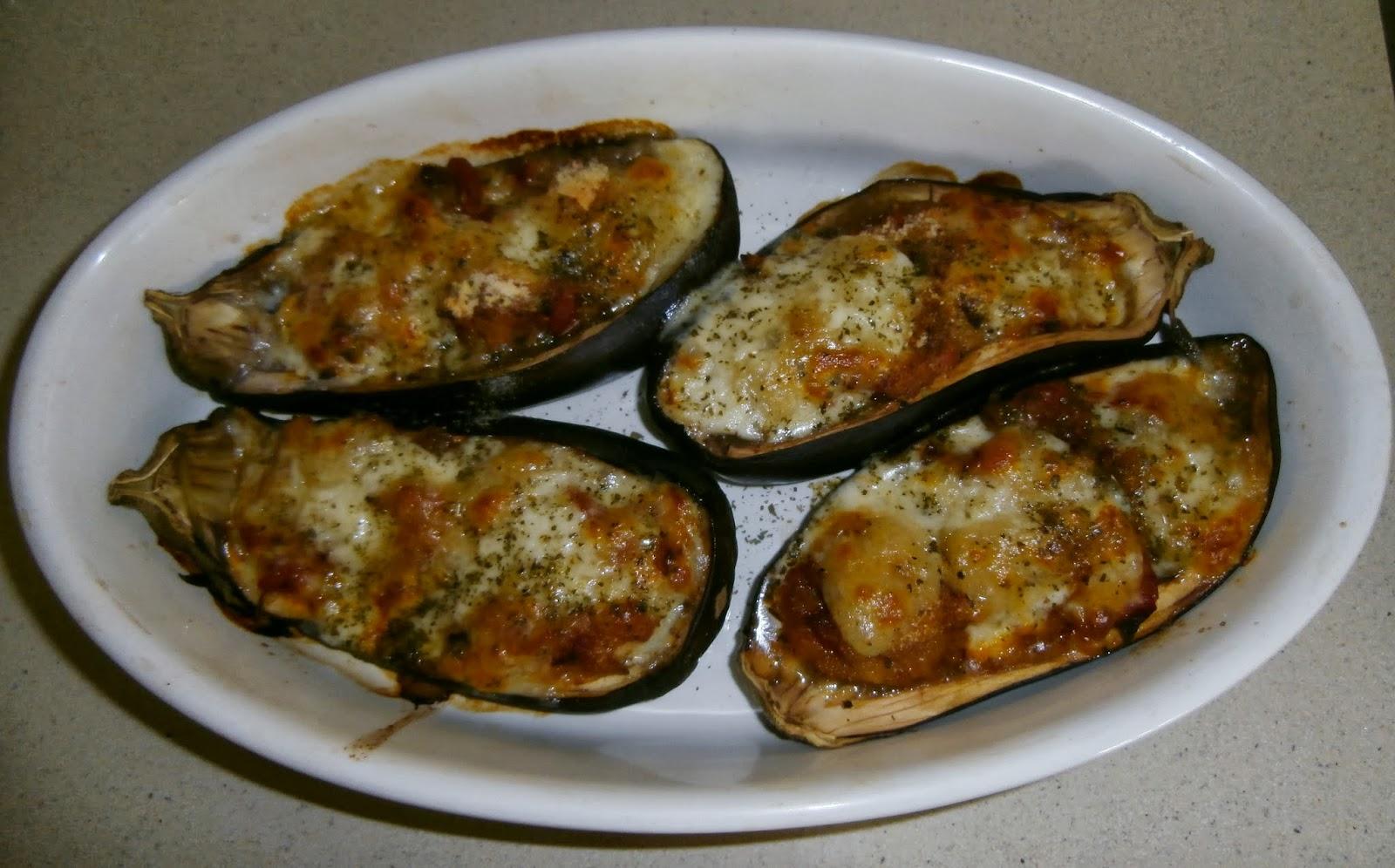 Una f sica en la cocina berenjenas rellenas al horno con mozzarella - Berenjenas rellenas al horno ...