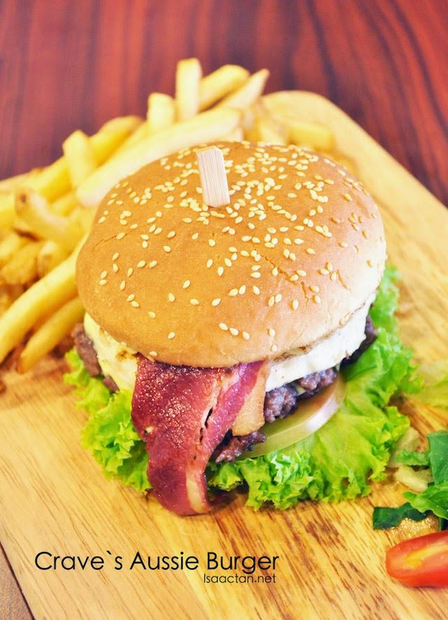 Crave's Aussie Burger - RM22