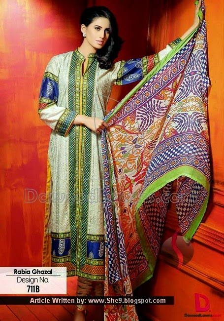 Embroidered Designer Lawn 2015 Vol-1 by Dawood