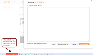 Cara Cepat Cari Kode HTML-Edit HTML Template Blog