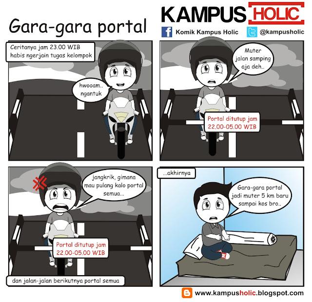 #152 komik Gara-gara portal kampus