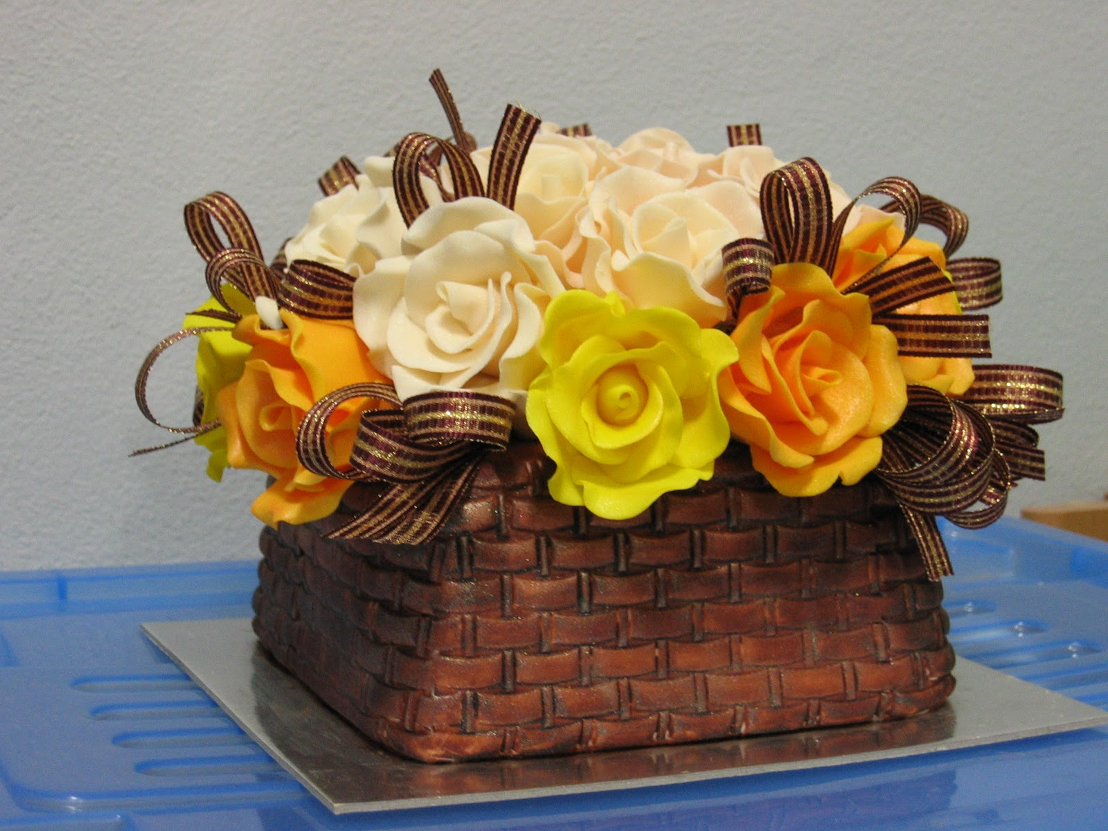 How To Make A Basket Of Flowers Cake : Cake decoration baking adventure rose basket feb