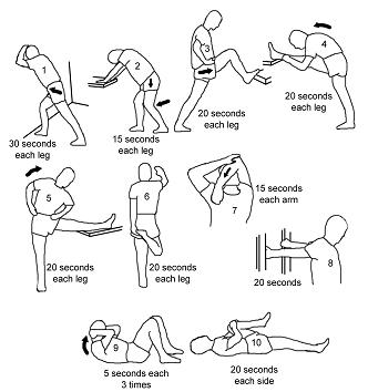 Stretching For Sciatica on light injuries