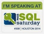 Houston SQLSaturday Speaking