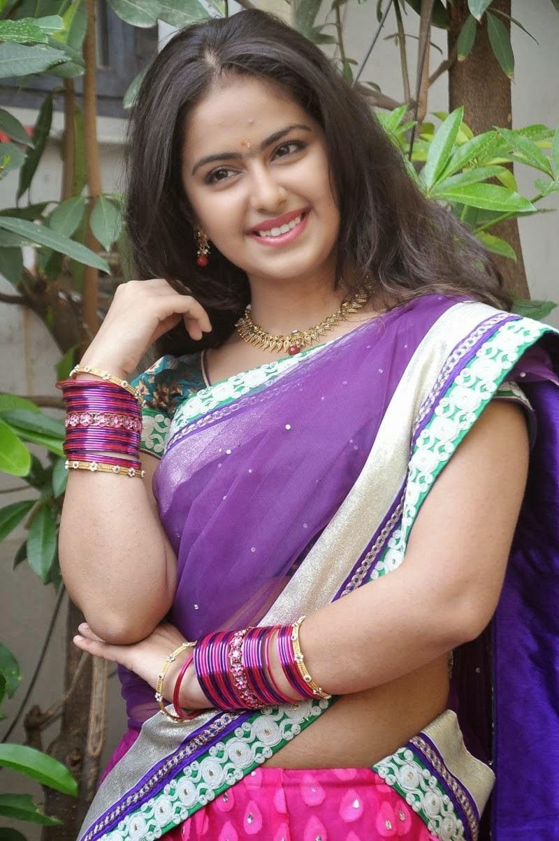 Actress Avika Gor Spicy Photos In Half Saree