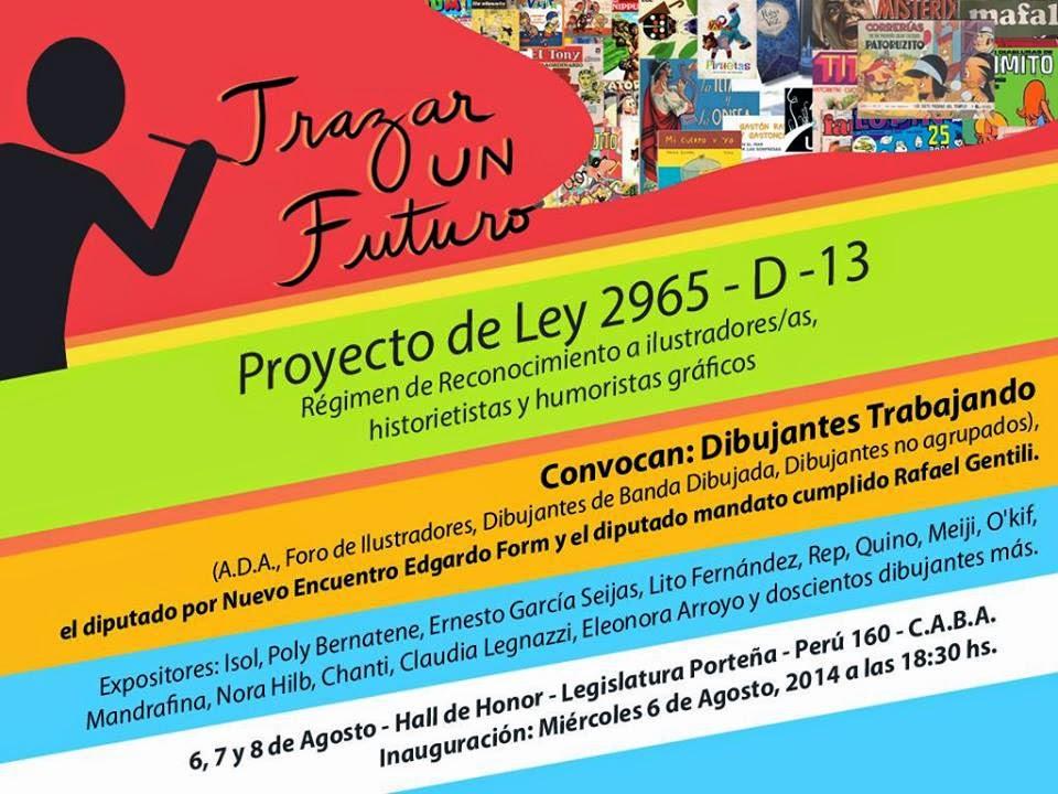 """MUESTRA: """"Trazar un futuro – Dibujantes trabajando""""  Perú 160, CABA  - Legislatura"""