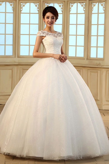 Deluxe White Princess Wedding Gowns