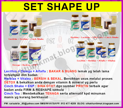 set shape up shaklee