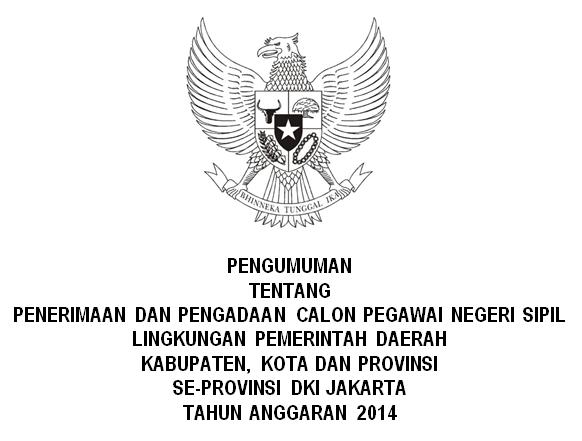 Pengumuman Penerimaan CPNS Pemprov DKI Jakarta