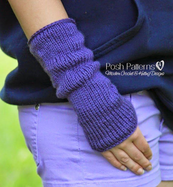 Knitted Hand Warmers Free Patterns : Posh Patterns Easy Crochet Patterns and Knitting Patterns: Free Knitting Patt...